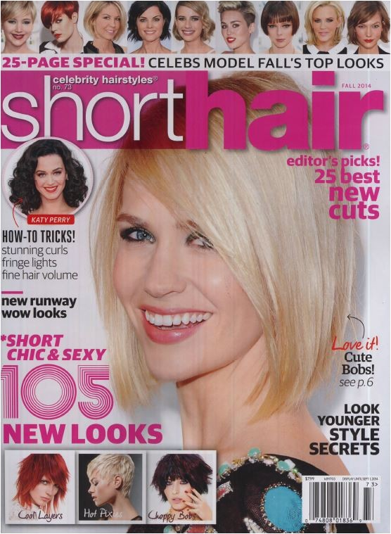 paul labrecque is featured in celebrity hairstyles short hair magazine fall 2014 edition