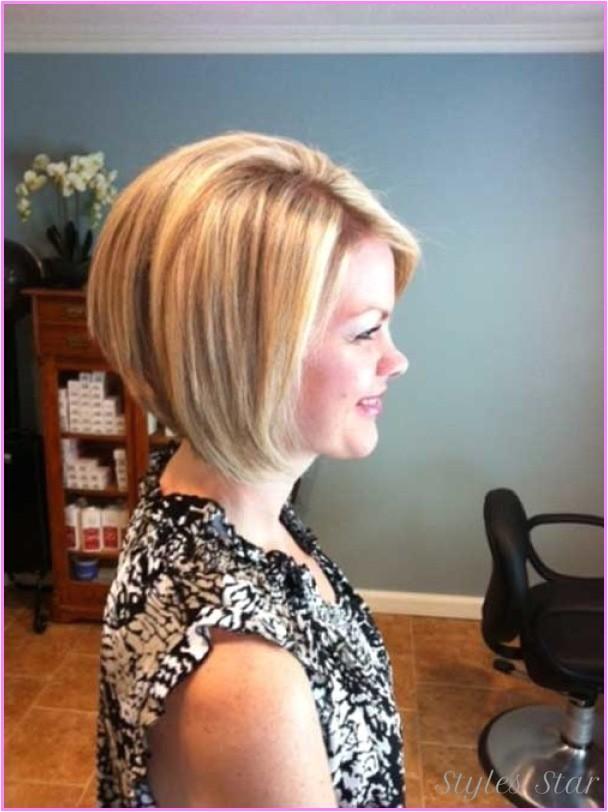 medium length inverted bob haircut