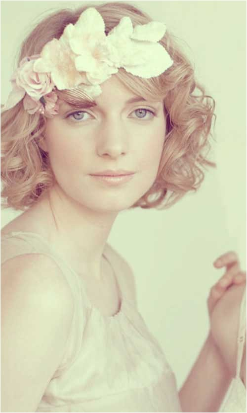 Curly Bob Wedding Hairstyles 30 Wedding Hair Styles for Short Hair