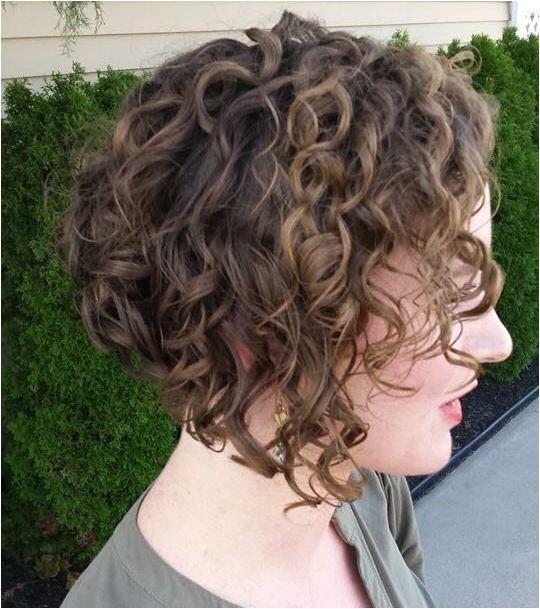 curly inverted bob haircut