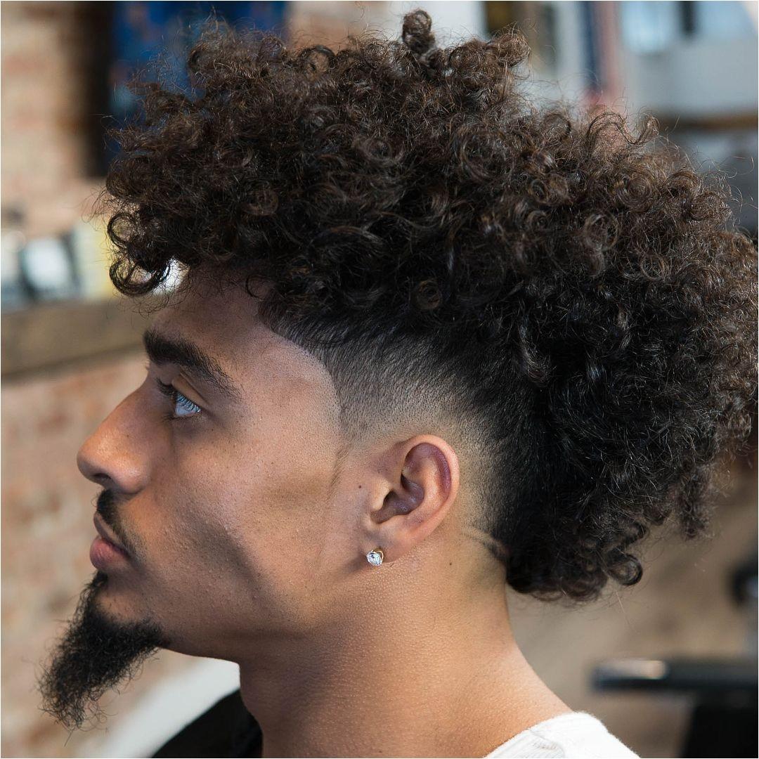 Burst fade mohawk for long curly hair menshaircuts fadehaircuts fade burstfade mohawk curlymohawk burstfademohawk