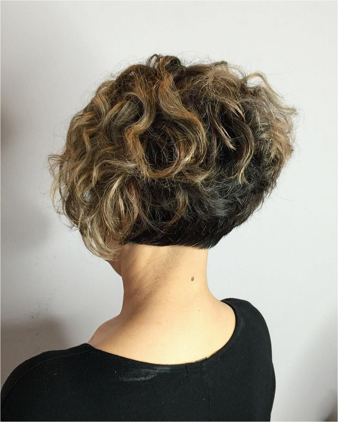 Two Tone Short Curly Bob