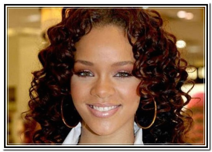 long curly weave hairstyles for round faces