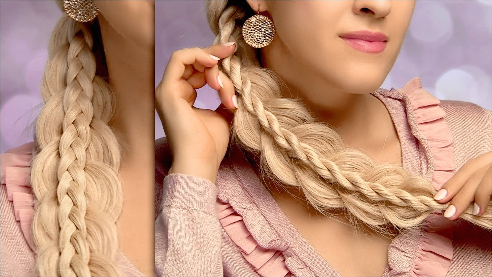 cute and easy back to school hairstyles for long hair intricate side swept braids tutorial