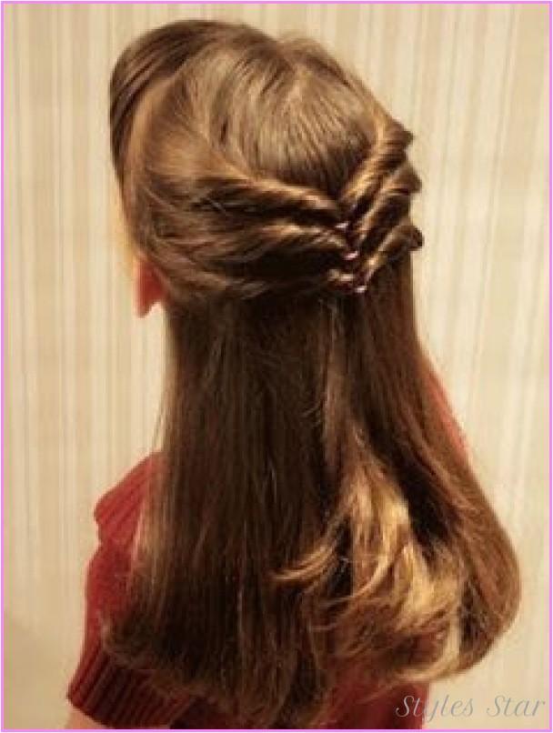 cute easy hairstyles long hair school step