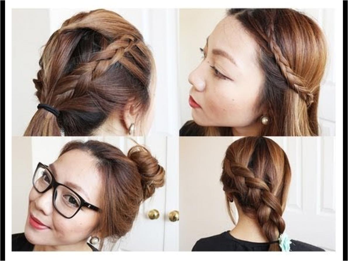 cute hairstyles for medium hair for school