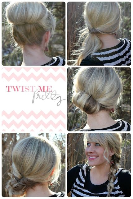 quick and simple updo hairstyles for medium hair