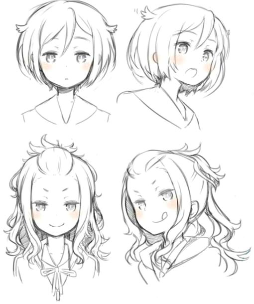 anime style hairstyles