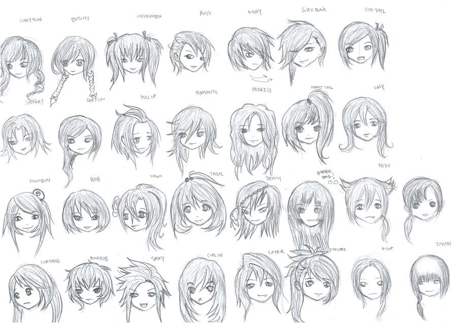 cute anime hairstyles sudah