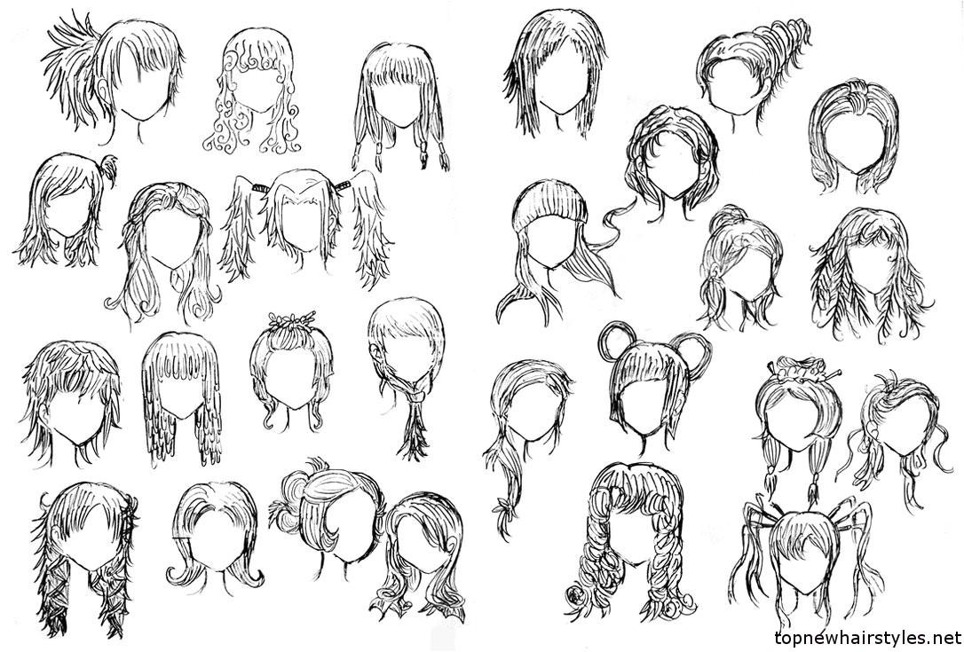 cute anime hairstyles for long hair