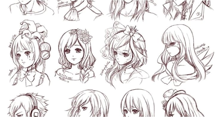 cute anime hairstyles for short hair