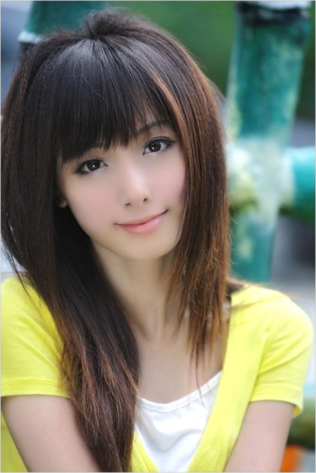 27 cute asian girl hairstyles creative fan for brow skimming bangs