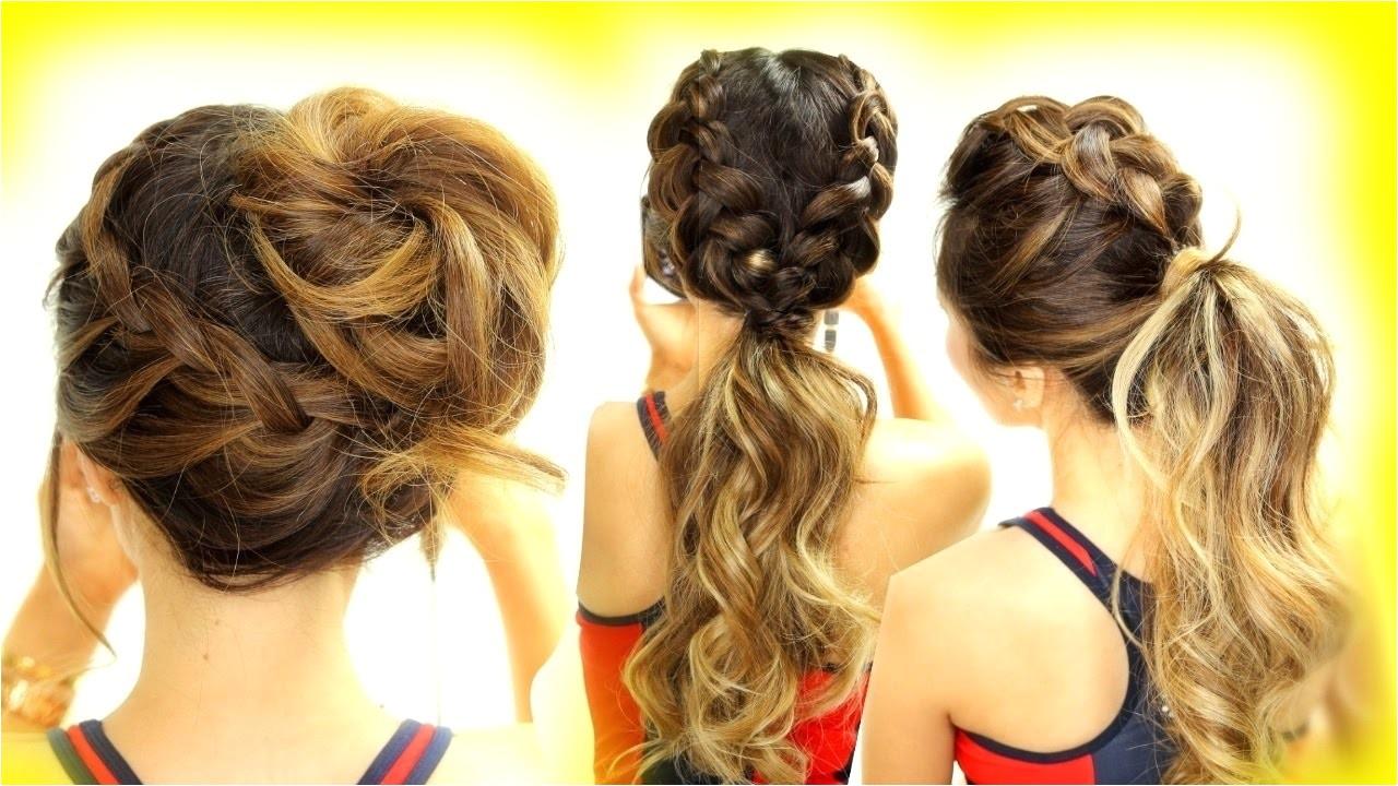 cute athletic hairstyles