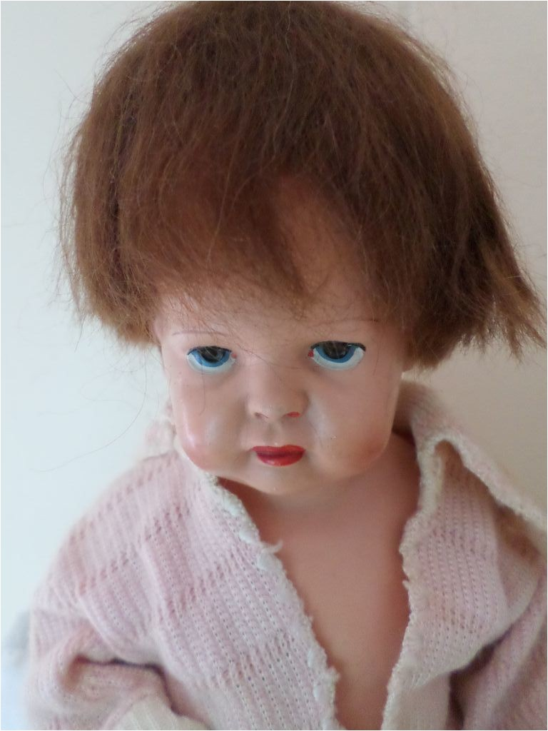 Cute Vintage Celluloid Baby Doll Human