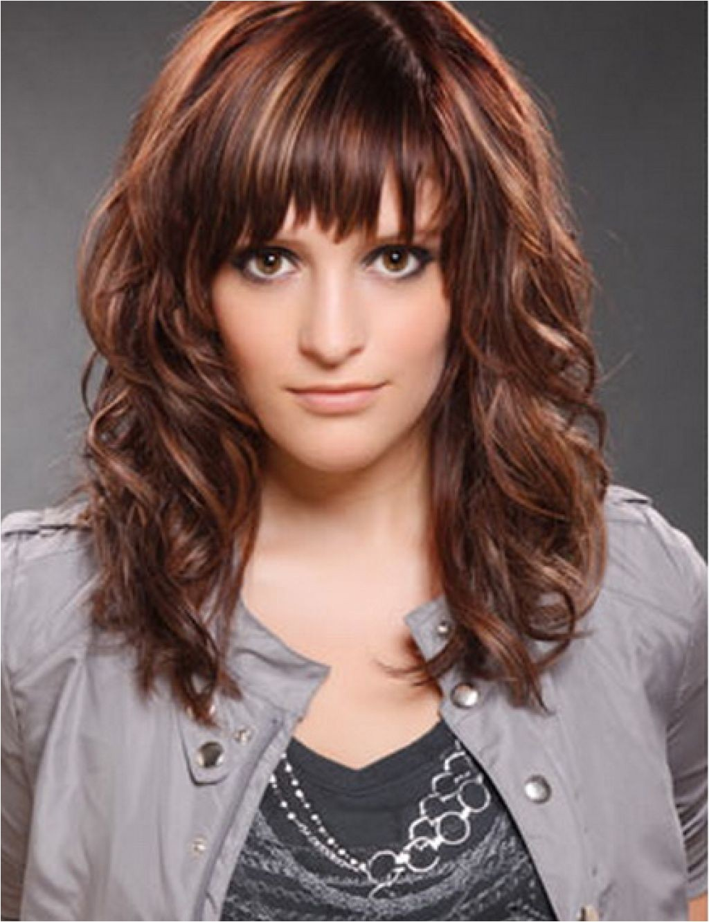bang hairstyles for curly hair