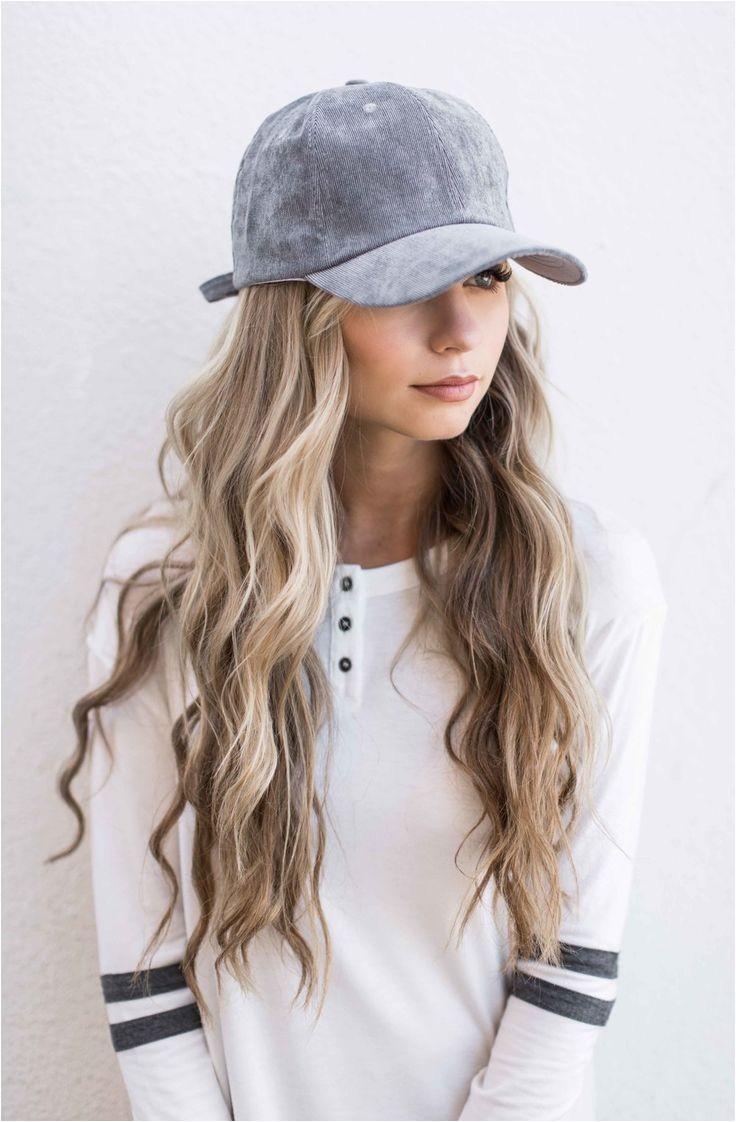cute baseball hat hairstyles