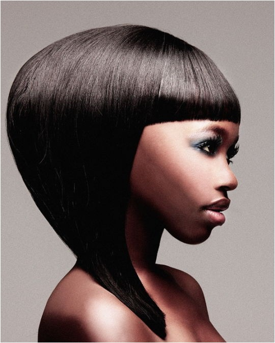 black medium length hairstyles are the favorite style of asian women
