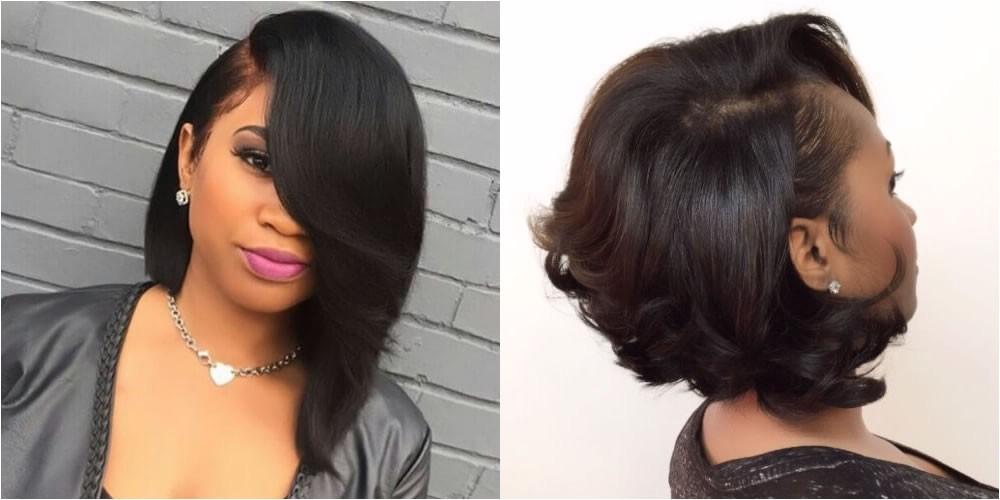 black hair short bob hairstyles 2018