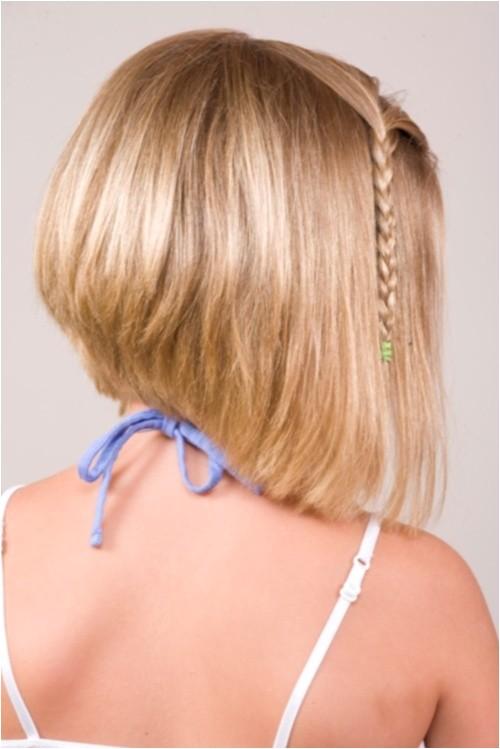 cute short bob haircuts for kids with bangs