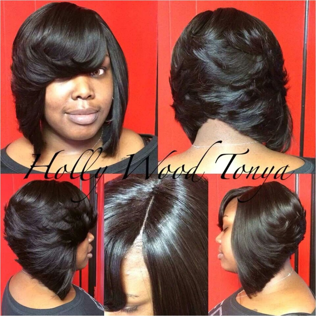 cute bob hairstyles with weave