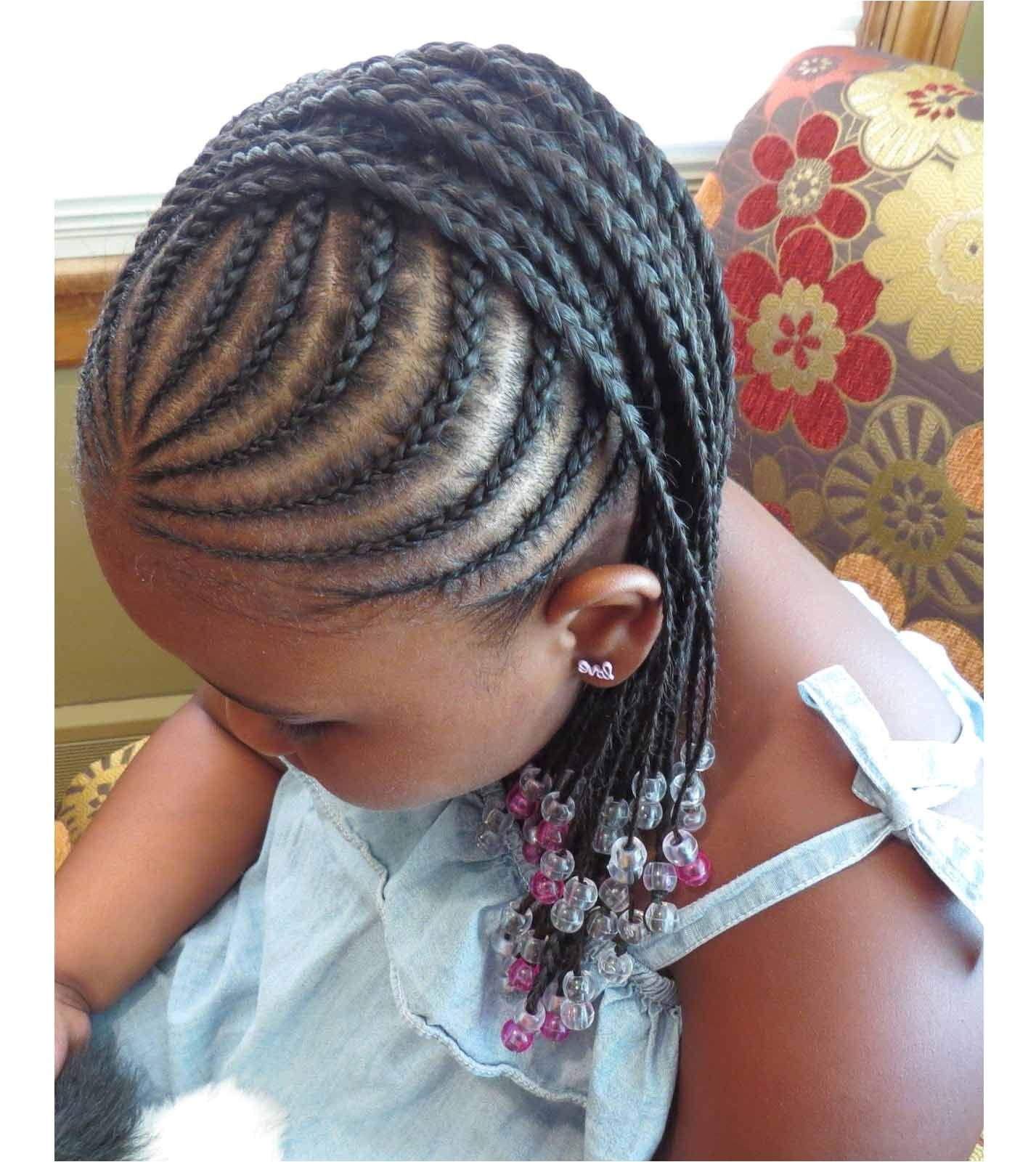 Braided hairstyles for little black girls with different details