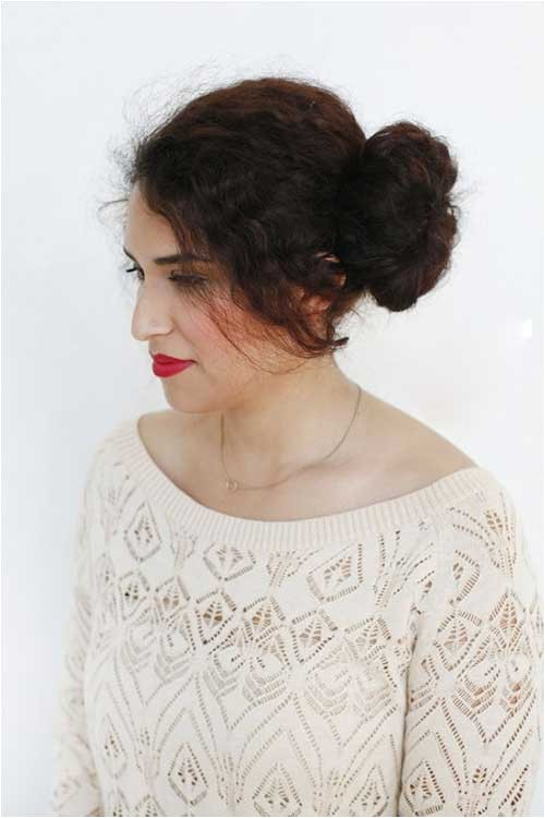 20 buns for curly hair