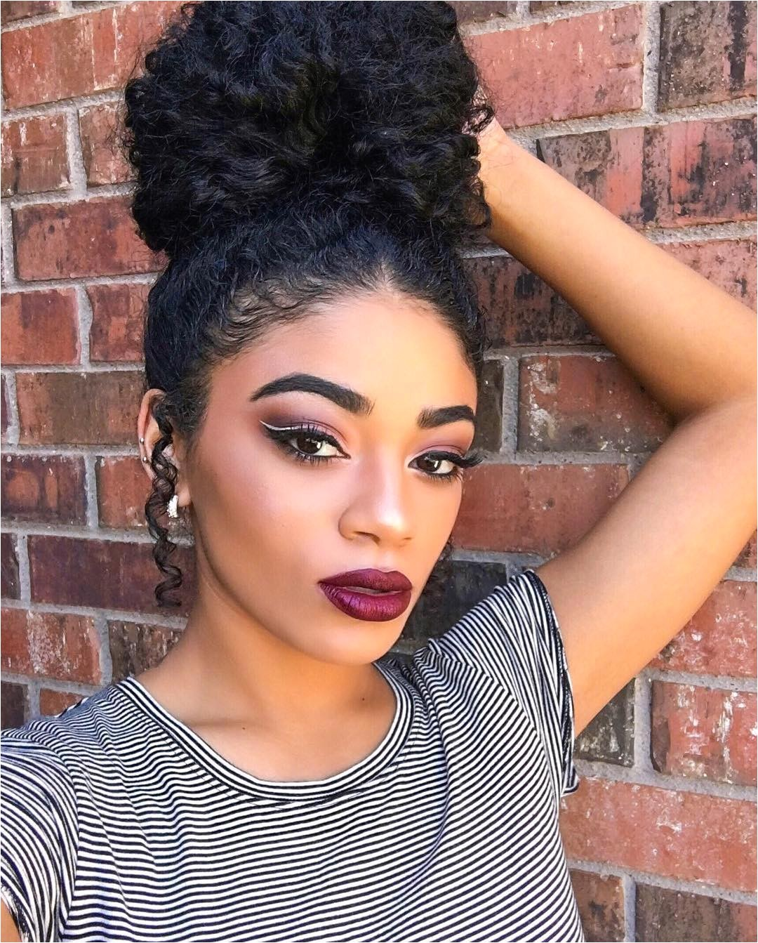 updos for curly hairs