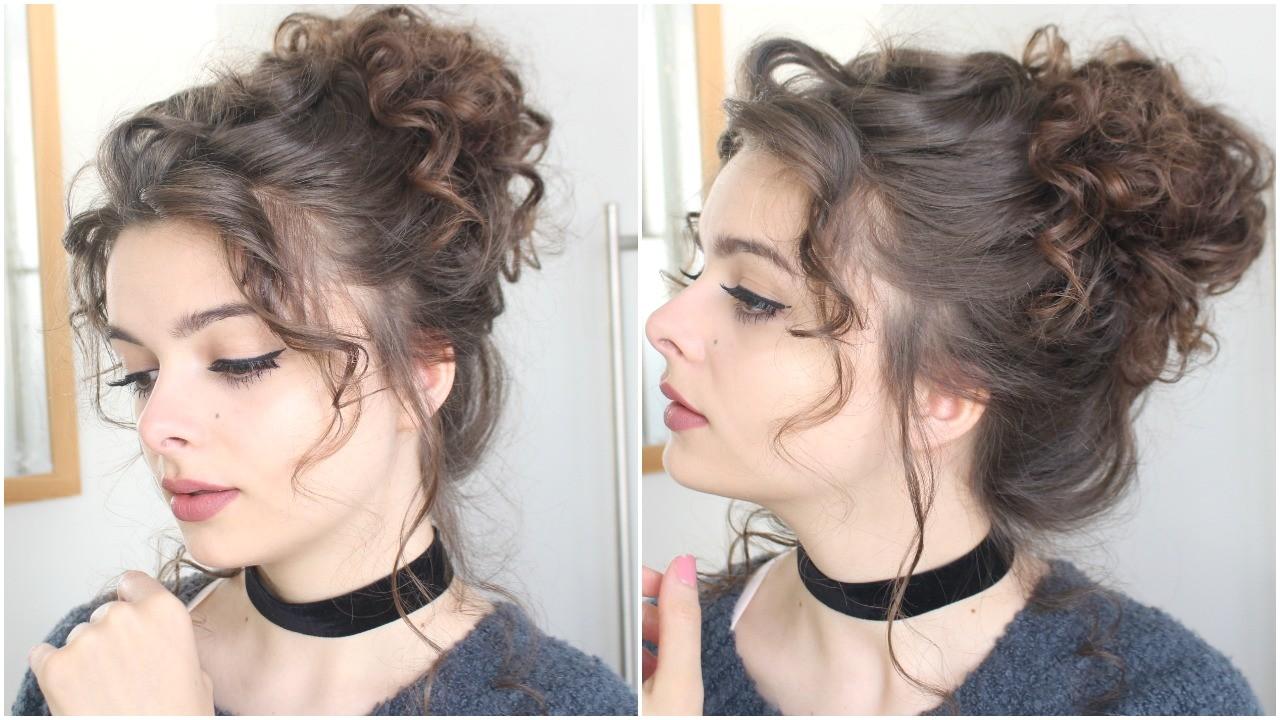 giant messy curly bun