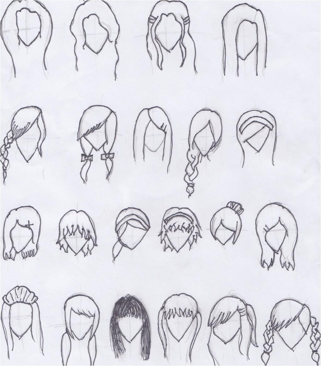 cartoon hair styles