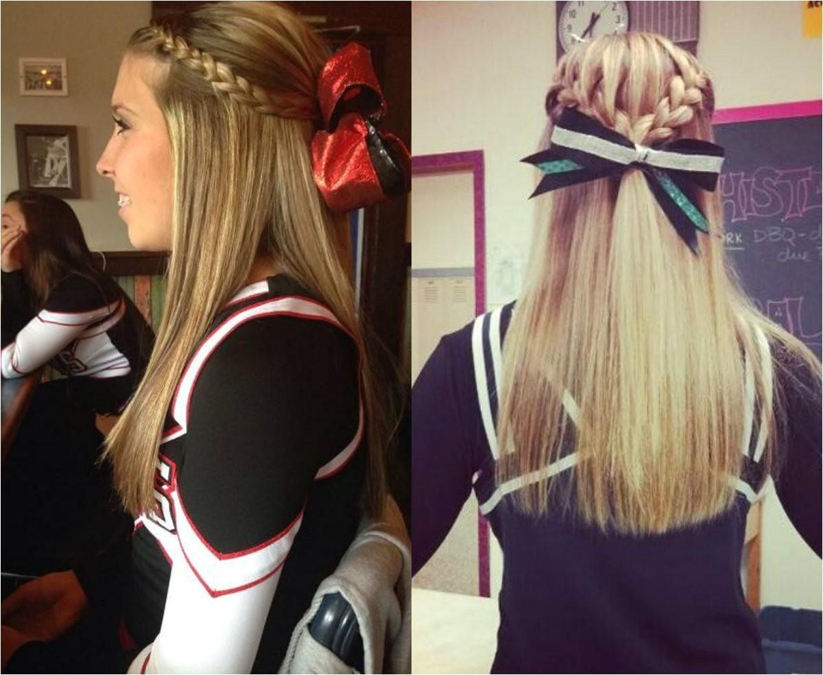 cute cheer hairstyles