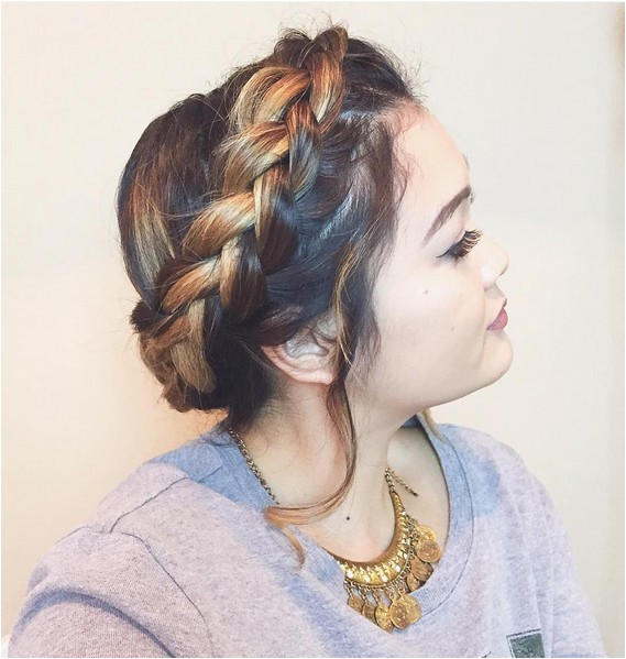 cute fortable milkmaid braid designs