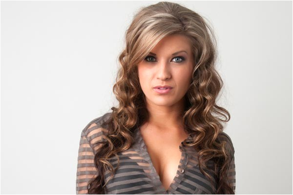 cute hair styles with the ends curled
