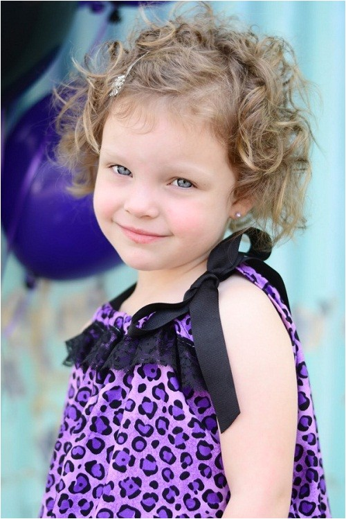 cute hairstyles for short curly hair for kids party