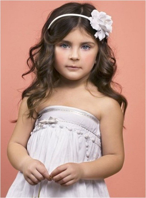 long cute hairstyles for kids with curly hair