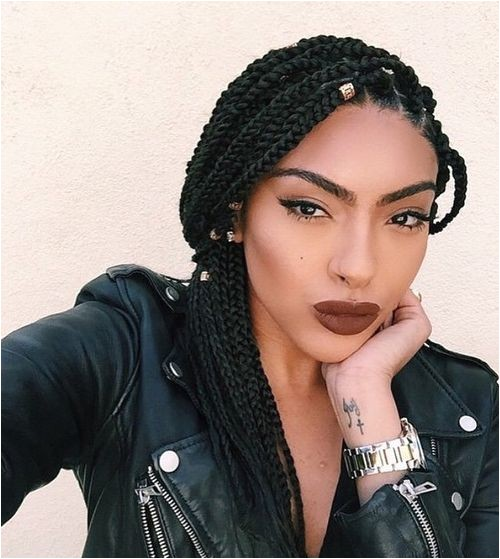 Cute Easy Hairstyles for Box Braids 50 Exquisite Box Braids Hairstyles to Do Yourself