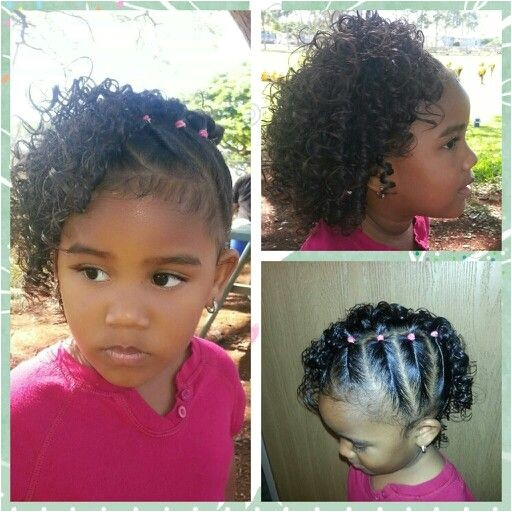 Cute Easy Hairstyles for Mixed Hair Side Twists with Curls Mixed Babies Hairstyles Mixed