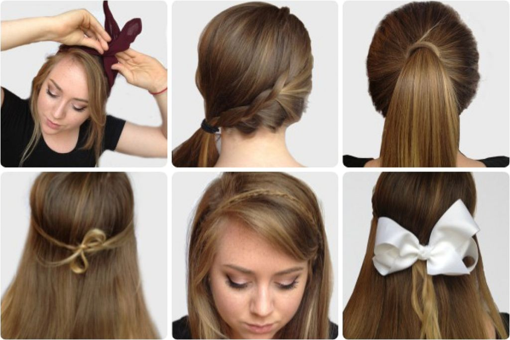 cute easy hairstyles for school step by step