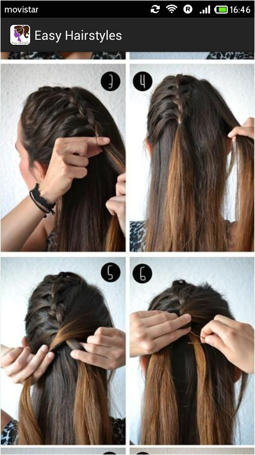 easy hairstyles for school step by step
