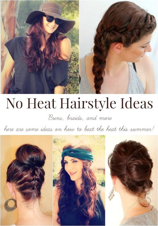 cute hairstyles no heat