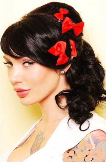 pin up hairstyles for long hair can