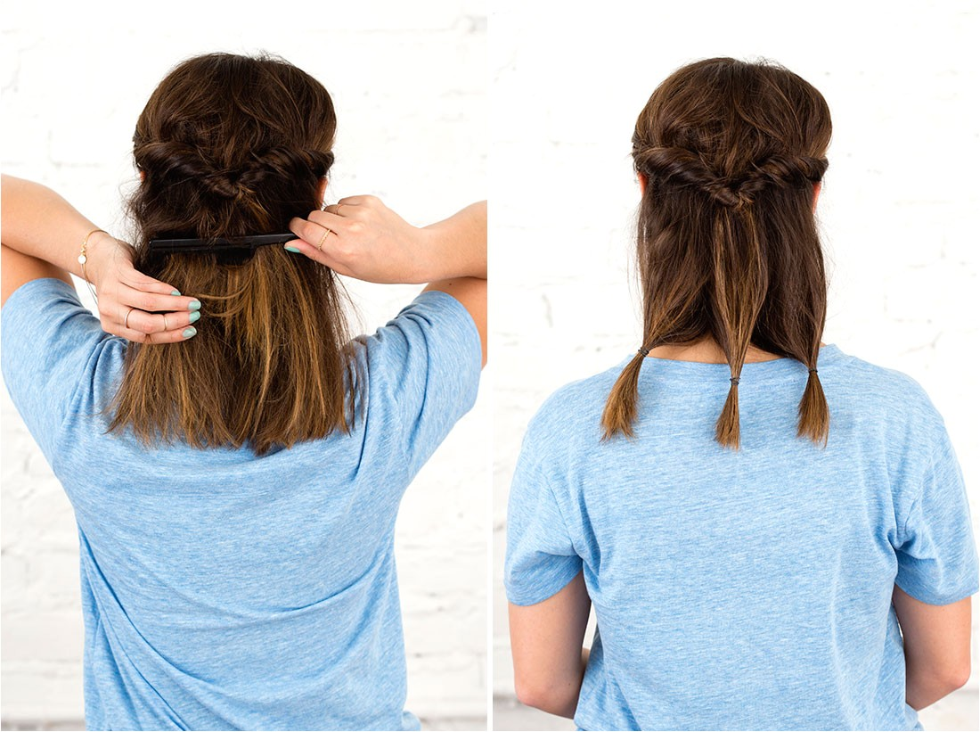 five minute rainy day hairstyles