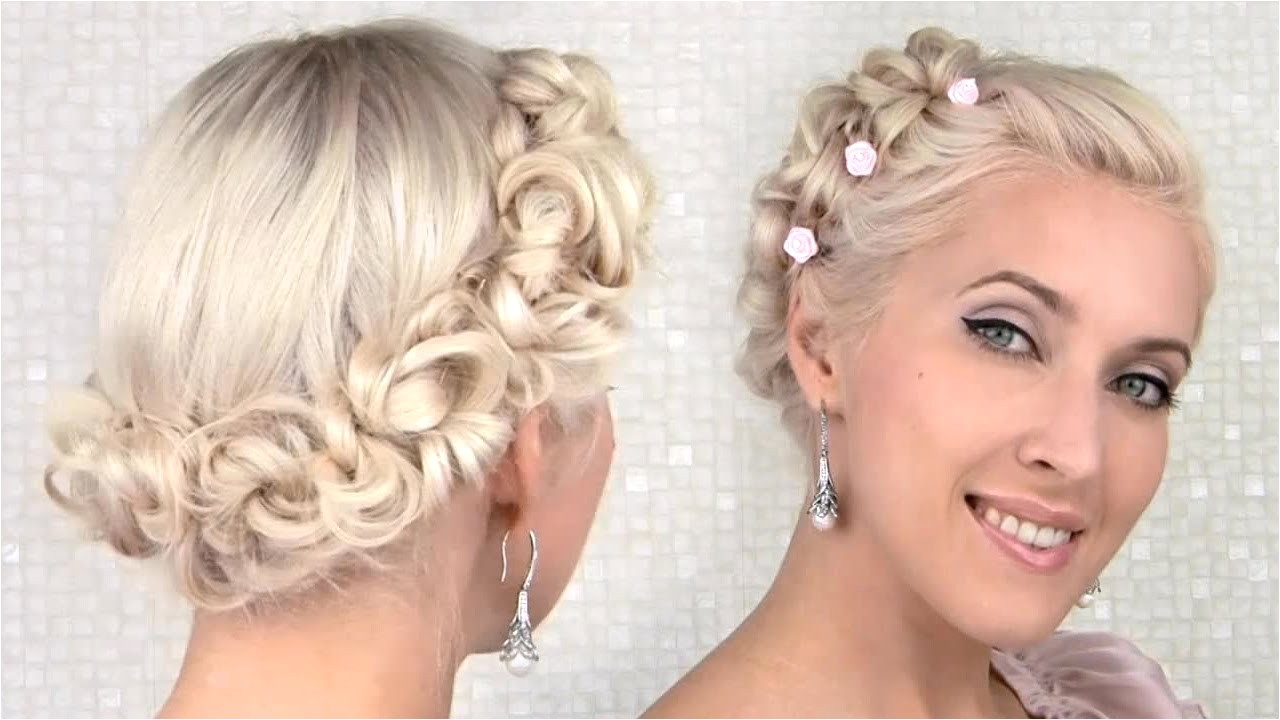 easy promwedding updo hairstyle cute angel fairy princess hair tutorial for halloween