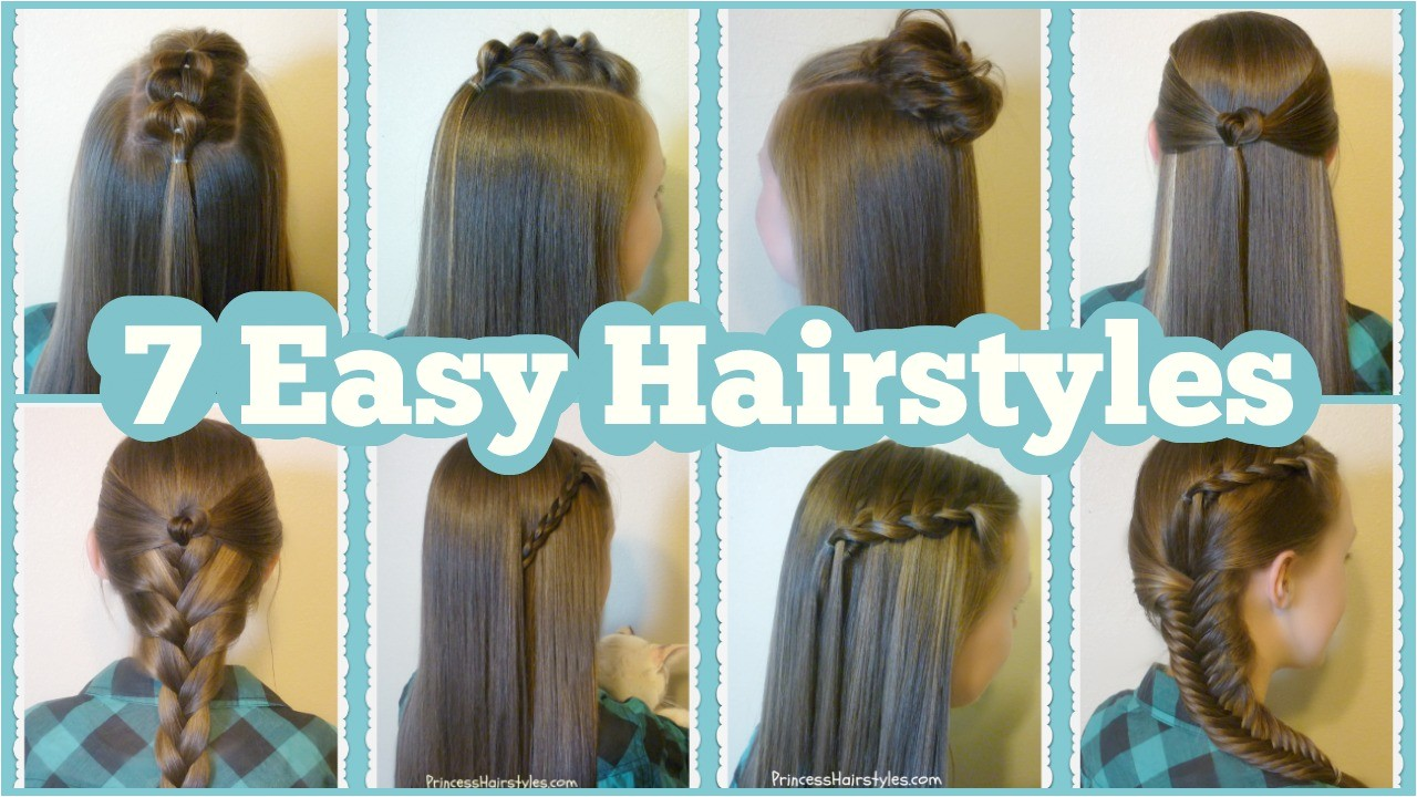 7 quick easy hairstyles for school