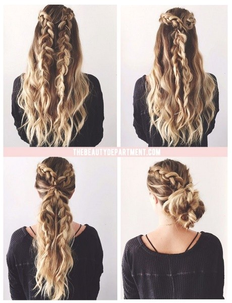 cute quick hairstyles for long thick hair