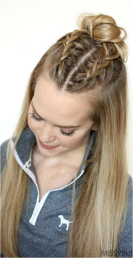 fast hairstyles for long thick hair