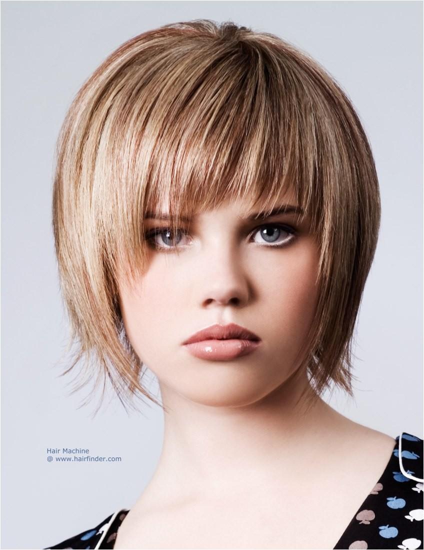 cute flat iron hairstyles for short hair