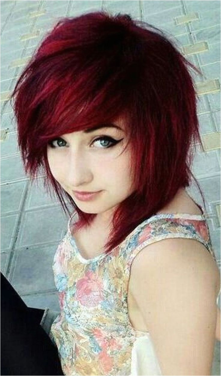 latest ideas of cute colorful dye emo hairstyles for funky girls