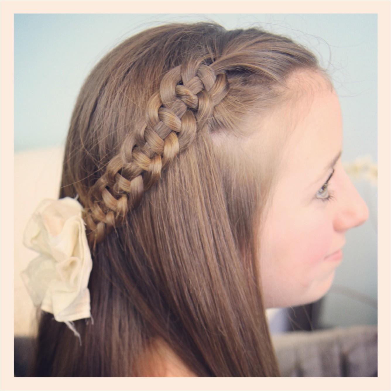 4 strand slide up braid pullback hairstyles