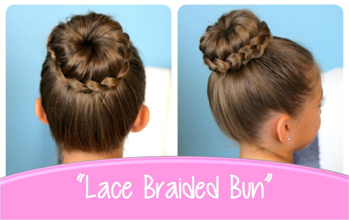 Lace Braided Bun Cute Updo Hairstyles Lovely Braided Bun Styles