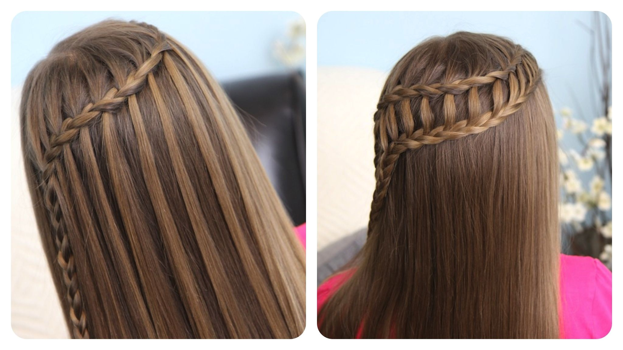 Cute Girls Hairstyles Ladder Braid Hairstyles Cute Girl Hairstyles Waterfall Braid & Ladder Braid
